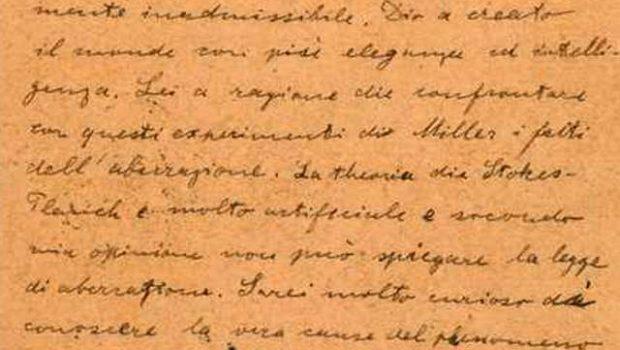 Carta em que Einstein diz que Deus criou mundo será leiloada