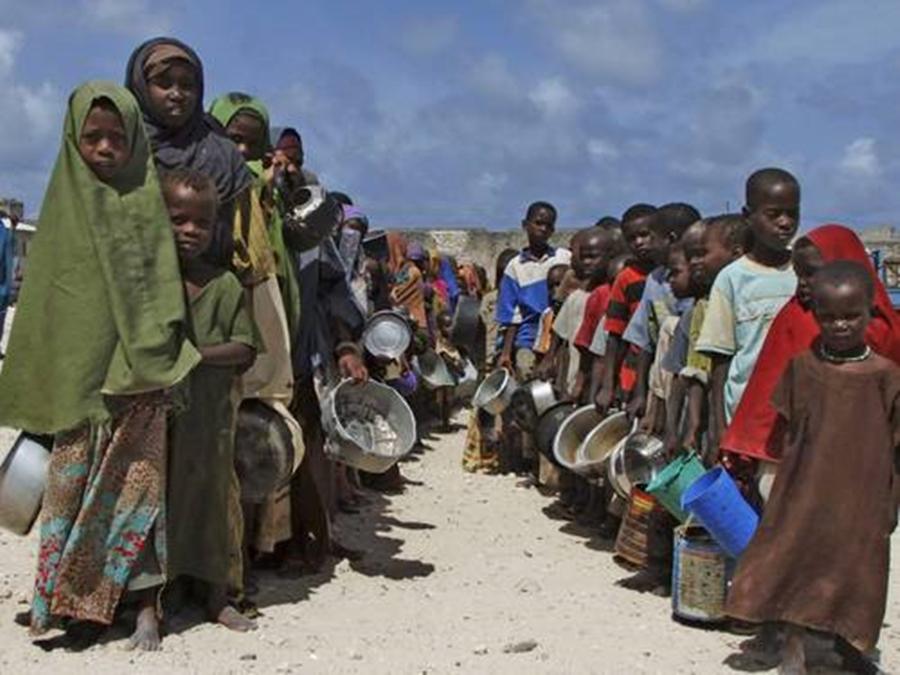 5 milhões de pessoas estão passando fome na Somália, diz ONU