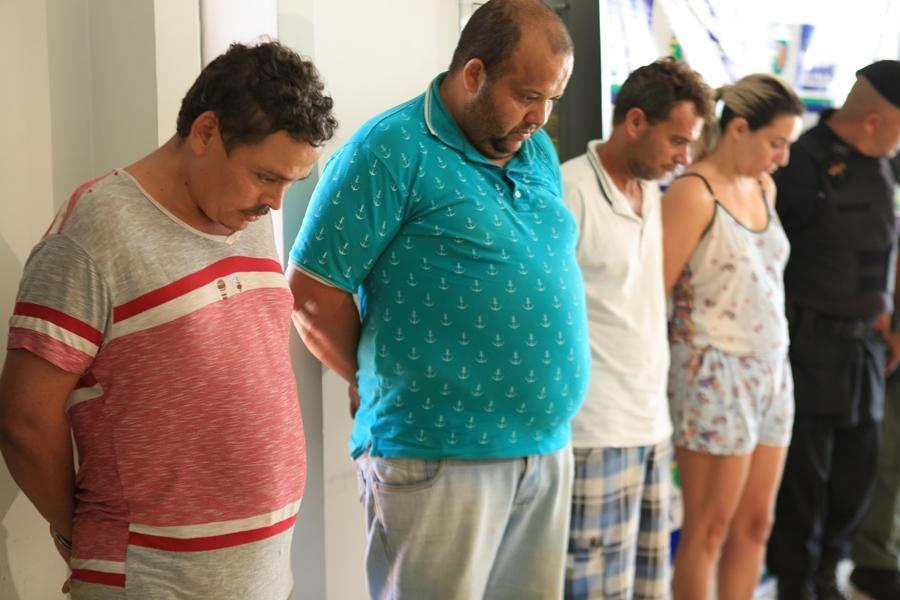 Polícia apresenta quadrilha que sequestrou gerente e roubou banco em Anápolis