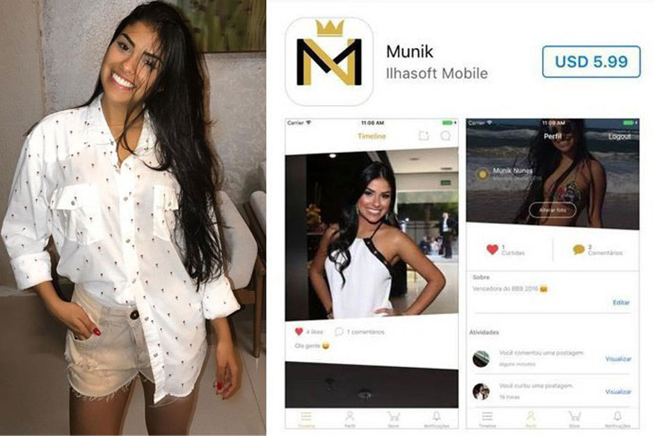 Ex-BBB Munik Nunes cobra R$ 20 para falar com fãs em aplicativo