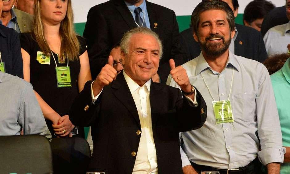 Temer é reeleito presidente do PMDB