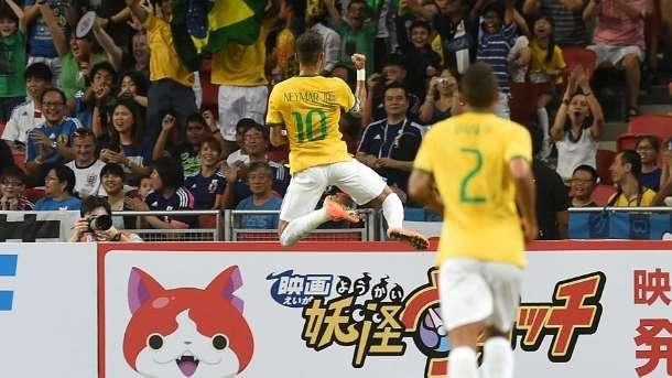 Neymar marca quatro e Brasil goleia o Japão em Cingapura por 4 a 0