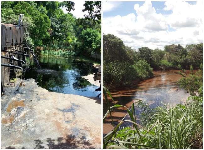 Produto tóxico vaza após acidente na Semob e atingem o Rio Meia Ponte