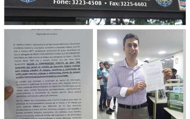 Candidato a deputado pelo DF, tucano propõe 'kit macho'