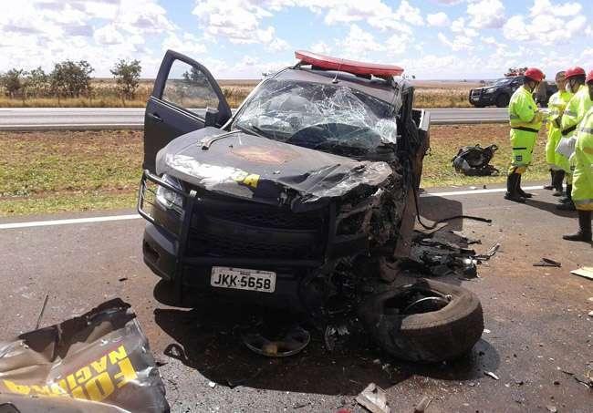 PM morre após bater carro da Força Nacional na BR-040