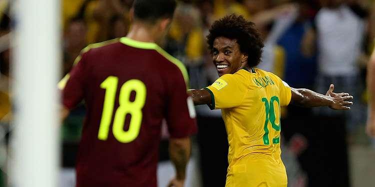 Com show de Willian, Brasil vence a Venezuela no Castelão