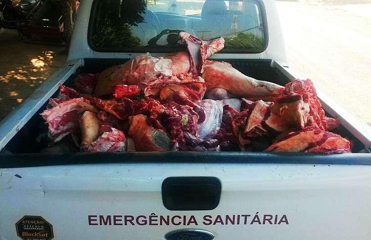 Campanha apreende três toneladas de carne clandestina