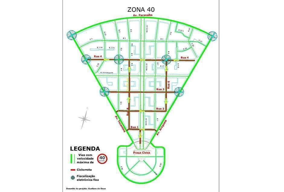 Parte do Centro de Goiânia tem velocidade máxima de 40 km/h