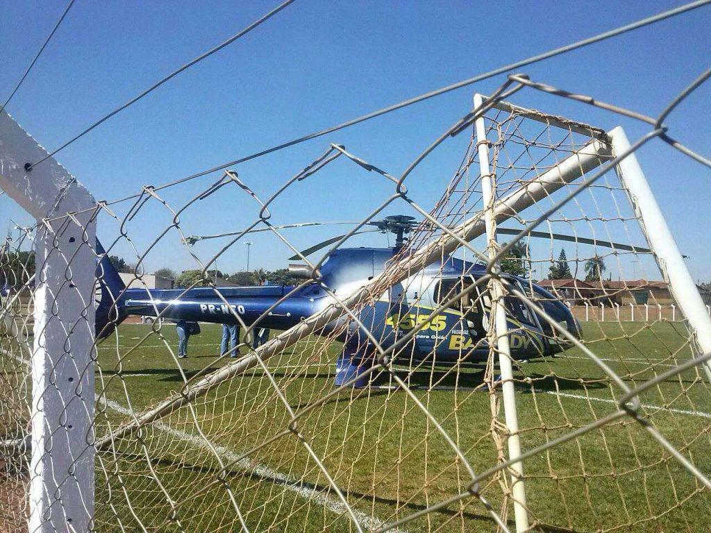 Helicóptero do candidato a deputado Alexandre Baldy faz pouso forçado em Goianira