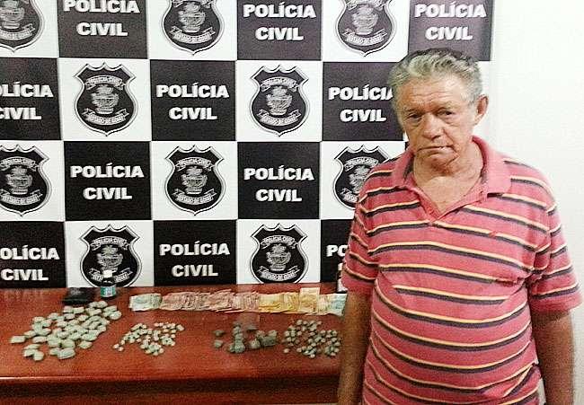 Idoso de 68 anos é detido por tráfico em Vicentinópolis