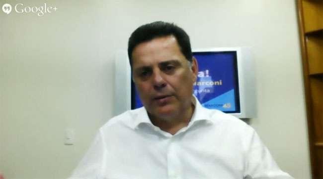 Marconi Perillo participa de entrevista virtual via redes sociais