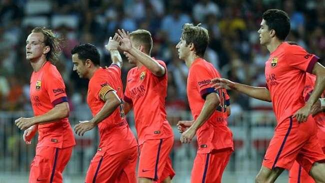 Barça empate com o Nice na estreia de Luis Henrique