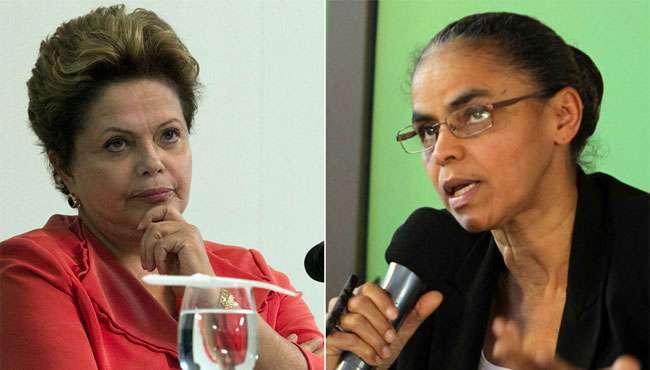 Marina abre 10 pontos sobre Aécio e venceria Dilma no 2º turno