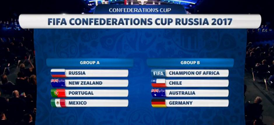 Chile e Alemanha caem no mesmo grupo na Copa das Confederações