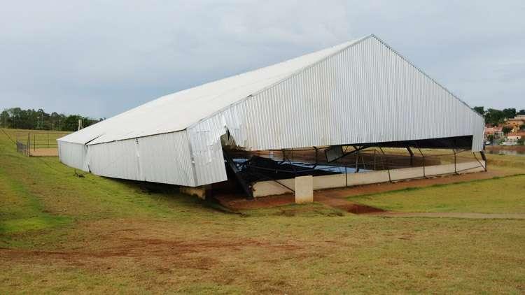 Chuva causa estragos em Pontalina