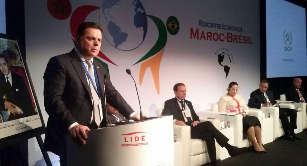 No Marrocos, Marconi destaca potencialidades da economia de Goiás