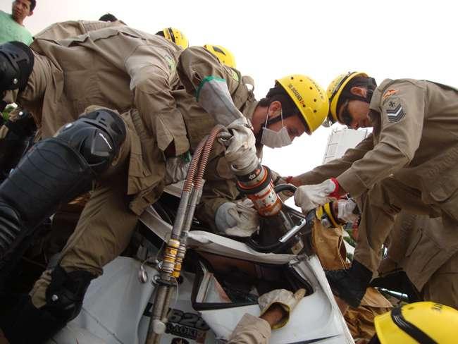 Acidente na GO-070 deixa uma pessoa ferida