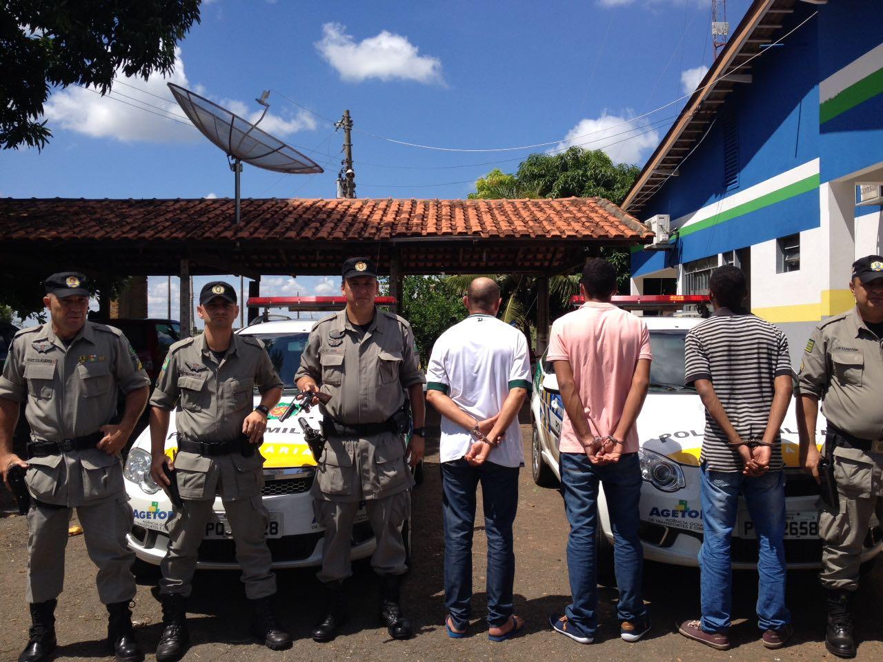 PM detém trio que planejava série de assaltos em São Luís de Montes Belos