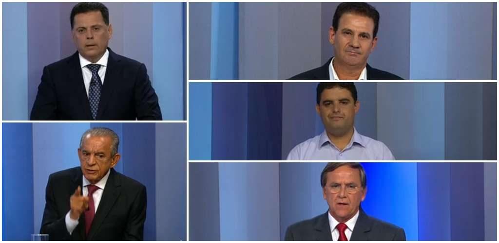 Candidatos confrontam propostas para governo de Goiás em debate na TV Anhanguera