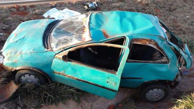 Criança de 2 anos morre e três pessoas ficam feridas em acidente na BR-060