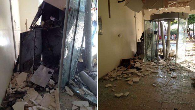 Bandidos explodem caixas eletrônicos de duas agências bancárias de Montividiu
