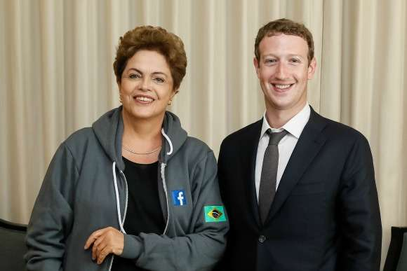 Dilma anuncia parceria do governo brasileiro com o Facebook