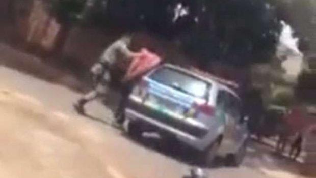 PM é flagrado agredindo motociclista durante abordagem em Aparecida de Goiânia