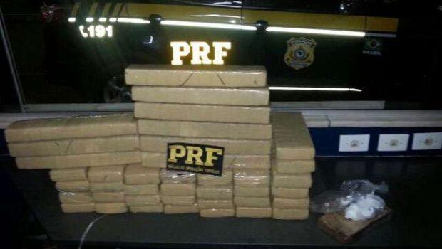 Homem é preso com 50 kg de maconha e crack na BR-060