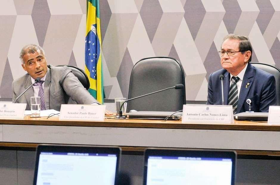 Durante depoimento, presidente da CBF evita confronto e polêmicas com Romário