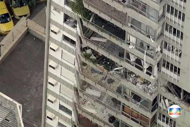 Explosão em prédio destrói apartamentos no Rio de Janeiro