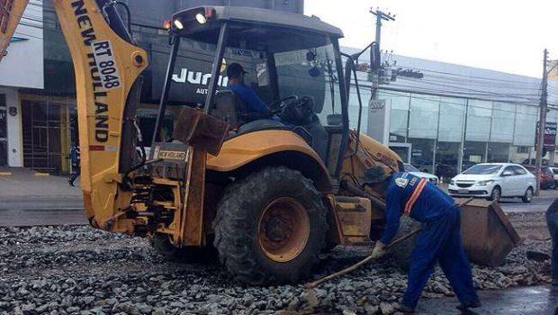 Semob executa obras em novo trecho da Avenida 85