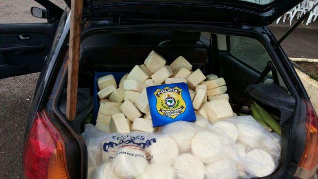 Polícia apreende cerca de 200 kg de queijo impróprio para o consumo, em Mara Rosa