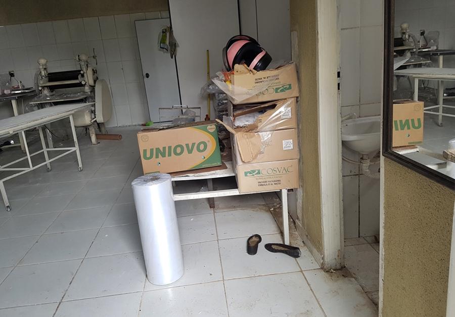 Vigilância Sanitária interdita fábrica de massas e apreende quase 200 quilos de alimentos