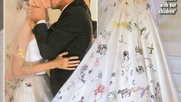 Divulgadas as primeiras imagens de Angelina Jolie em casamento com Brad Pitt