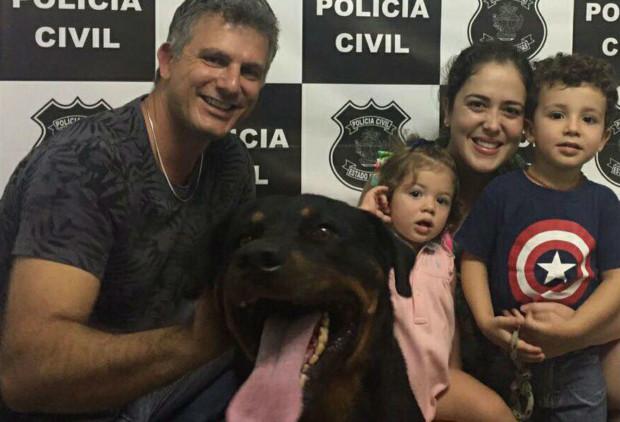 Rottweiler furtado em Caldas Novas é encontrado e devolvido à família