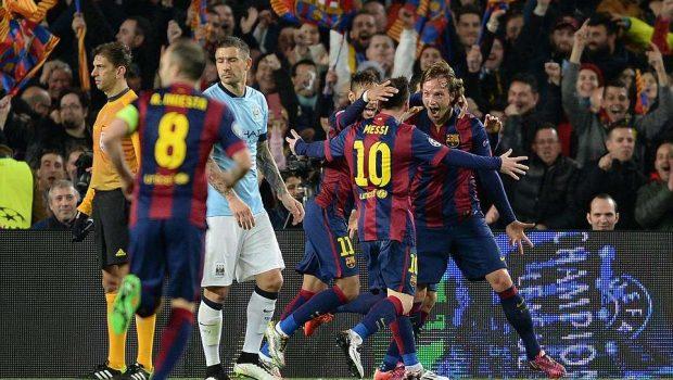 Com show de Messi, Barcelona vence o City e avança às quartas de final