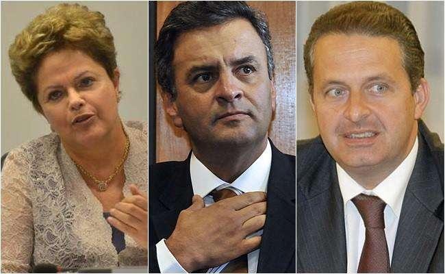 Dilma tem 38%, Aécio, 23%, e Campos, 9%, diz pesquisa Ibope