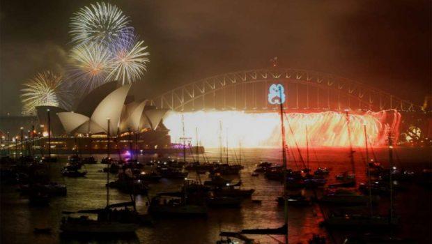 Veja como foi a queima de fogo em Sydney, na Austrália