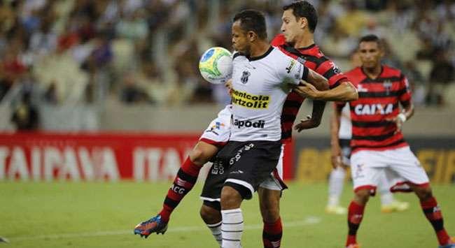 Atlético empata com Ceará e segue em quinto na Série B