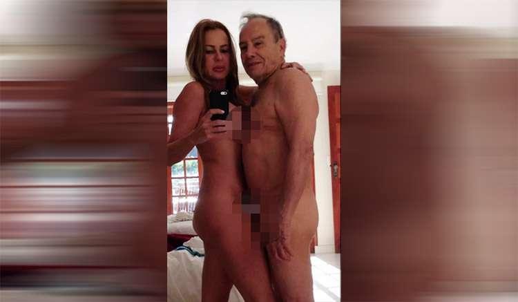 Fotos íntimas de Stênio Garcia e a mulher, Marilene Saade, vazam nas redes sociais