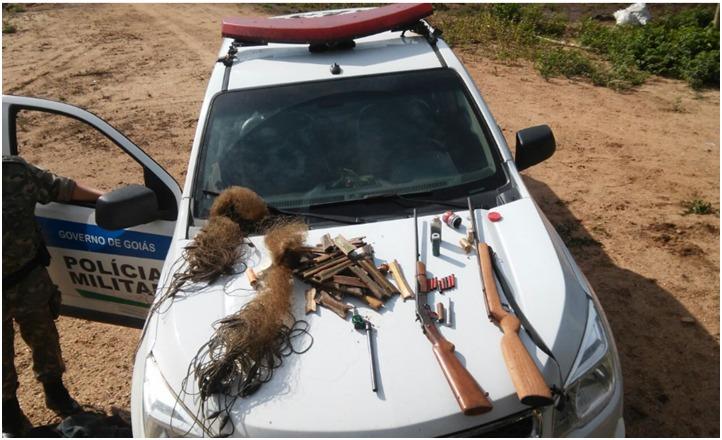 Operação do Batalhão Ambiental em Minaçu apreendeu três armas de fogo no fim de semana