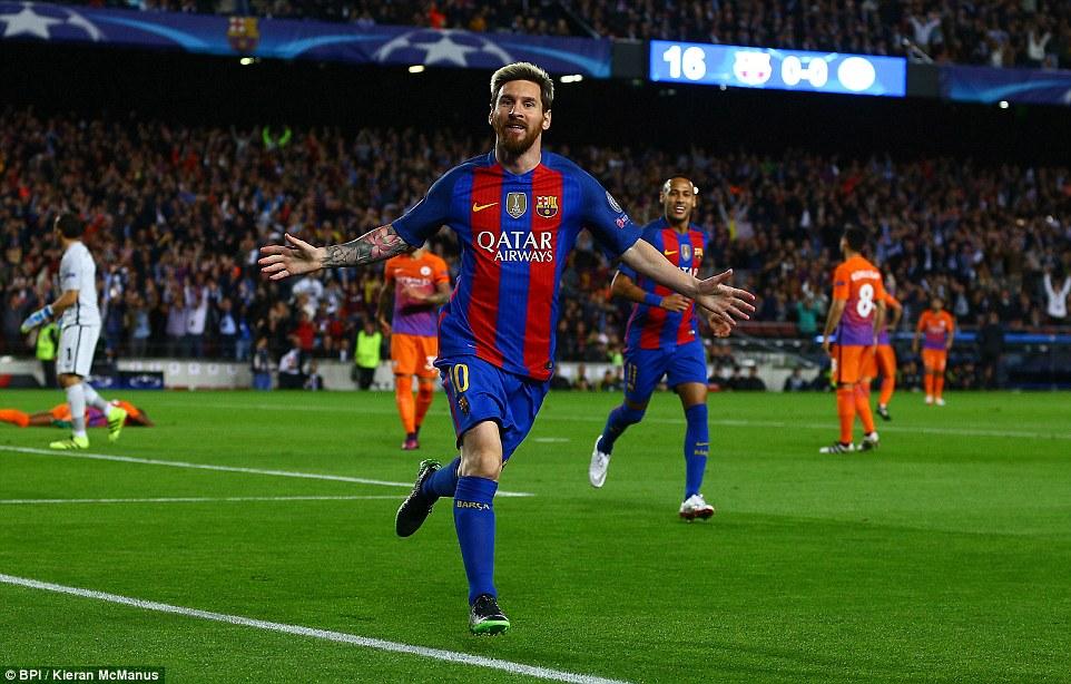 Messi marca três, Neymar faz outro e Barça goleia City em encontro com Guardiola
