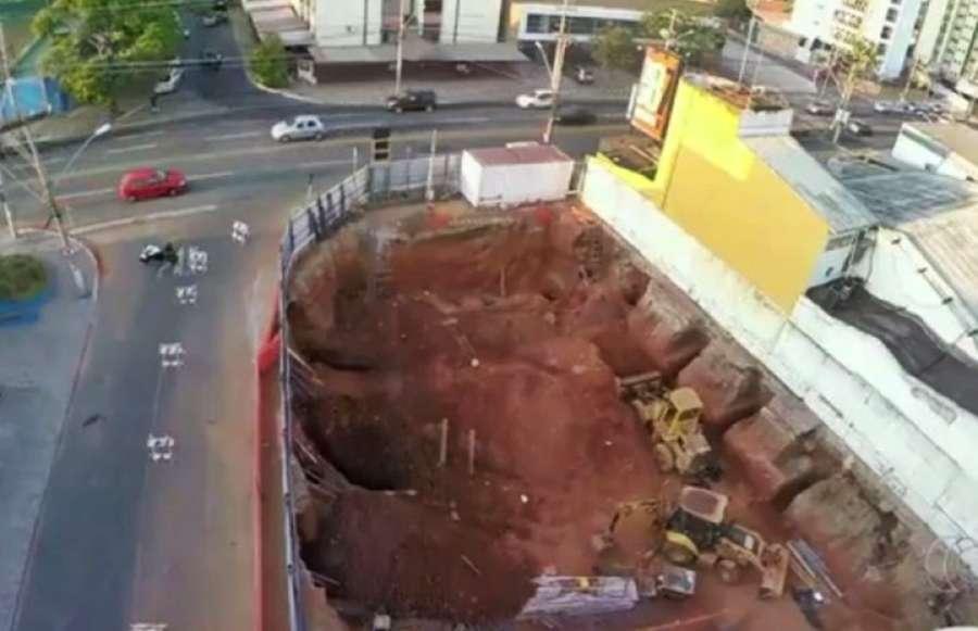 Engenheiros afirmam que suspenderam escavações em obra no Setor Sul