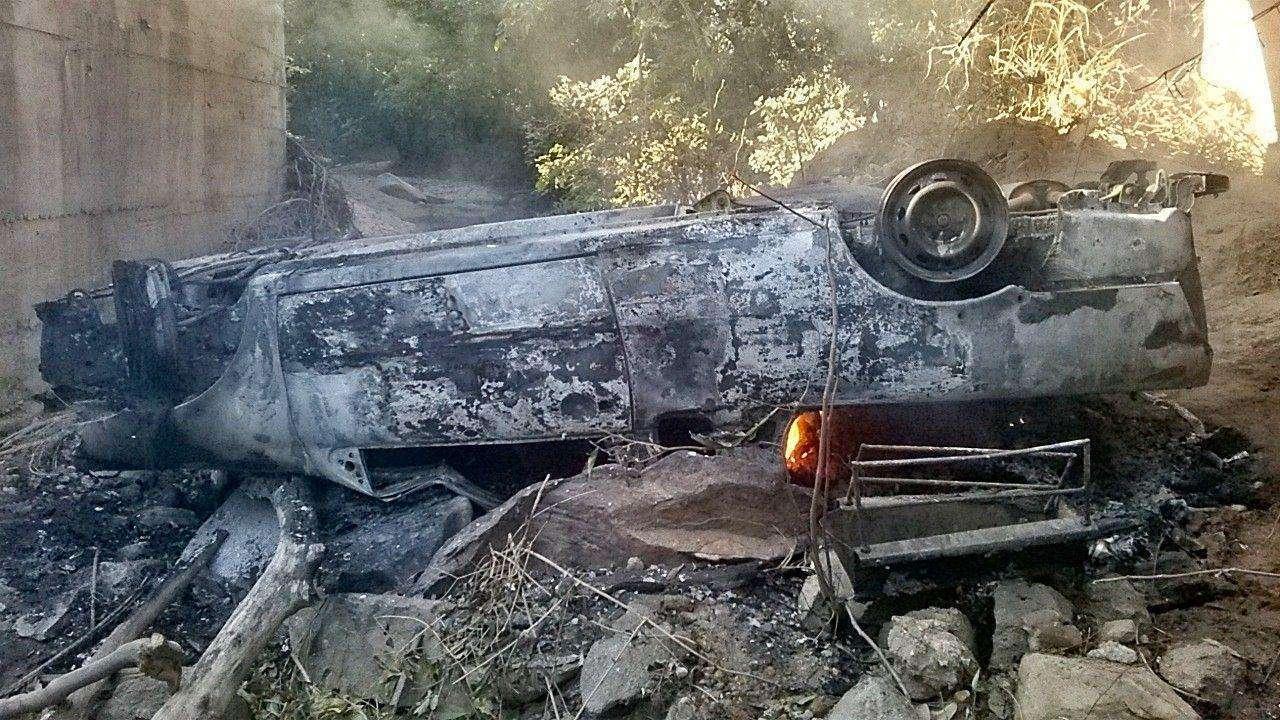 Quatro pessoas de uma família ficam feridos após queda de veículo de ponte, em Faina