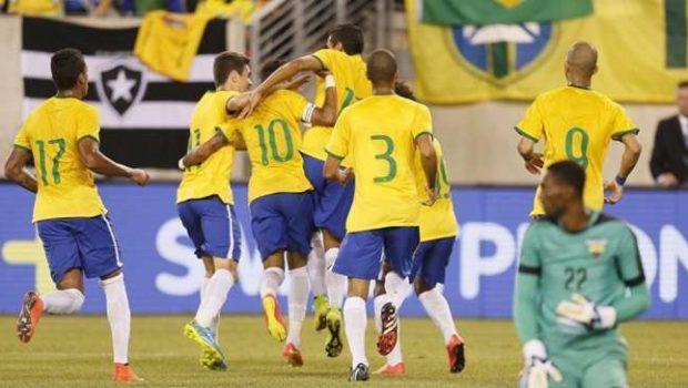 Com gol de Willian, Brasil derrota o Equador por 1 a 0