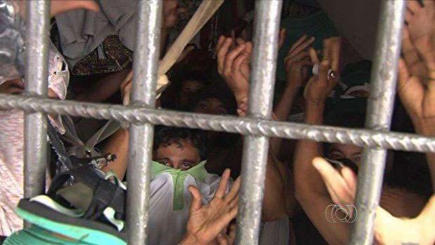 Em Goiânia, preso morre em cela superlotada 8h após ser detido