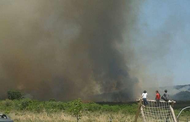 Bombeiros esperam controlar incêndio na Chapada dos Veadeiros até esta terça-feira