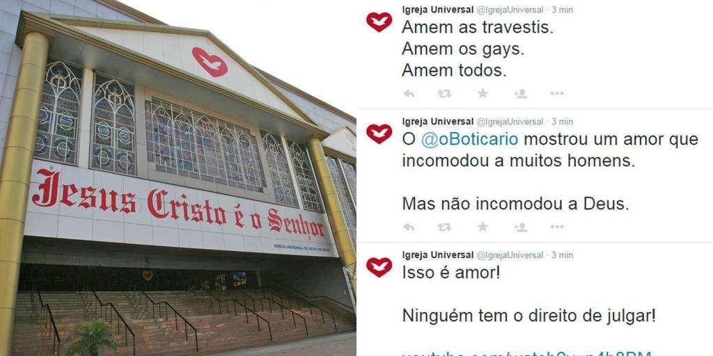 Twitter da Igreja Universal é invadido e espalha mensagens a favor dos gays