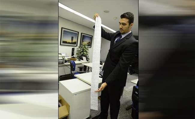 STJ recebe documento escrito em papel higiênico