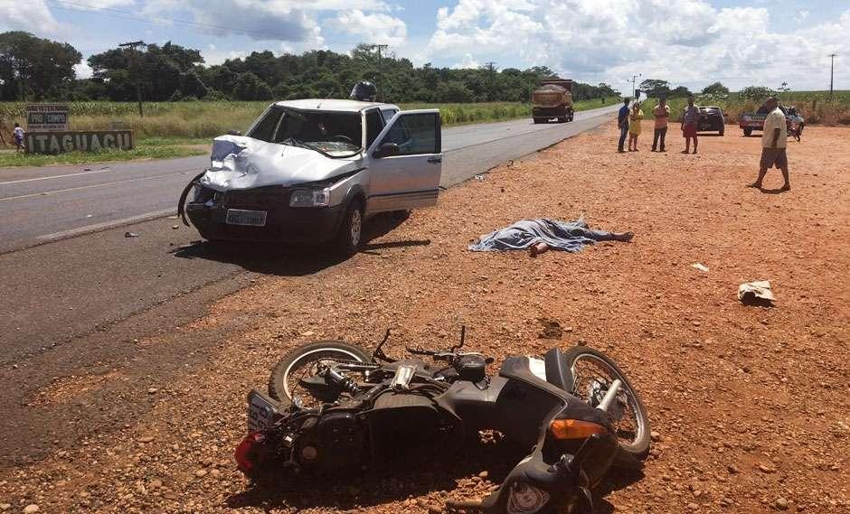 Motociclista morre e garoto de 10 anos fica ferido em acidente na BR-364